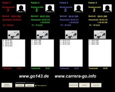 Zeitnahme für Carrerabahn mit Fahrradantrieb
