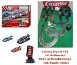 Carrera Digital 143 DTM Racing mit Ausbaupaket u. Rundenzähler, 12,20 Meter